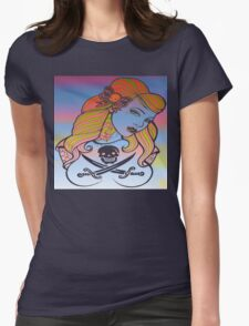psychedelic rockabelly beauty Womens Fitted T-Shirt