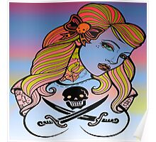 psychedelic rockabelly beauty Poster