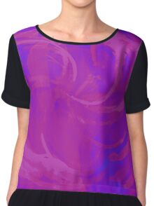 Abstract colorful watercolor illustration with paint strokes and swirls. Chiffon Top
