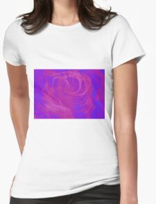 Abstract colorful watercolor illustration with paint strokes and swirls. Womens Fitted T-Shirt