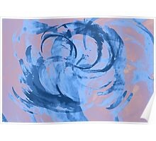 Abstract colorful watercolor illustration with paint strokes and swirls. Poster