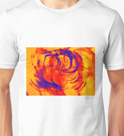 Abstract colorful watercolor illustration with paint strokes and swirls. Unisex T-Shirt