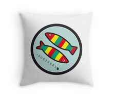Symbols of Portugal - Sardines Throw Pillow