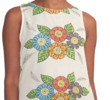 Colorful flowers  Contrast Tank