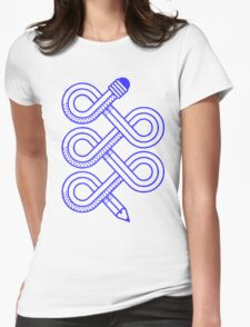 Wonky pencil illustration Womens Fitted T-Shirt
