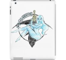 Jil Frontiers pin-up - distressed (for light background) iPad Case/Skin