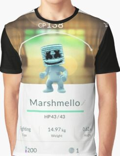 Poke Marshmello Graphic T-Shirt