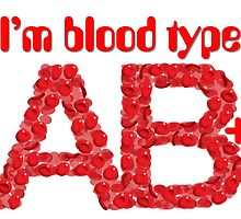 I'm blood type AB positive by theimagezone
