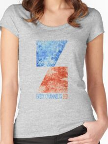 Channel Zed - Every Channel is Zed (distressed) Women's Fitted Scoop T-Shirt