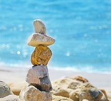 Stack of sea rocks by ellensmile