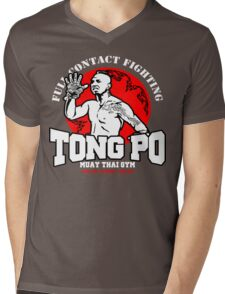 NEW TONG PO MUAY THAI FIGHTER VILLAIN KICKBOXER VAN DAMME MOVIE Mens V-Neck T-Shirt