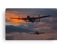 BBMF Lancaster and Hurricane Canvas Print