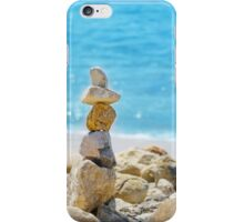 Stack of sea rocks iPhone Case/Skin