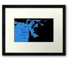 Blue-Baloo Framed Print