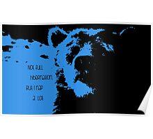 Blue-Baloo Poster