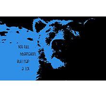 Blue-Baloo Photographic Print