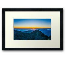 Beautiful Sunrise Over Rila Mountain Framed Print
