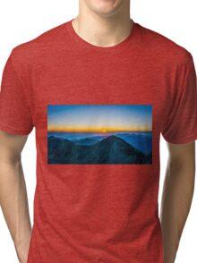 Beautiful Sunrise Over Rila Mountain Tri-blend T-Shirt