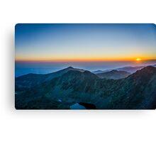Sunrise Over Rila Mountain Canvas Print