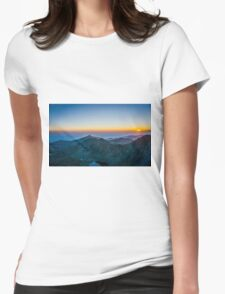 Sunrise Over Rila Mountain Womens Fitted T-Shirt