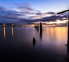 Dawn Breaks Over the Pier by Silken Photography