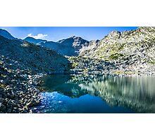 Panoramic View Of Musalenski Lakes And Musala Peak Photographic Print