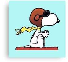 flying snoopy dom Canvas Print