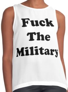 Fuck The Military Contrast Tank