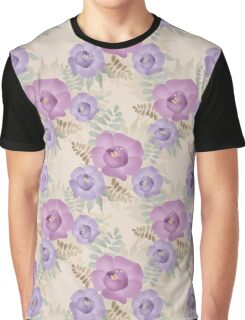 Seamless bright floral pattern background Graphic T-Shirt