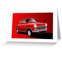 Poster artwork - Austin Mini Cooper Greeting Card