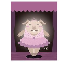 Dancing pig Photographic Print