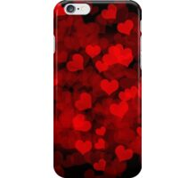 Dark background with hearts iPhone Case/Skin