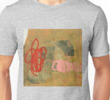 crab and worm fighting over a shell Unisex T-Shirt