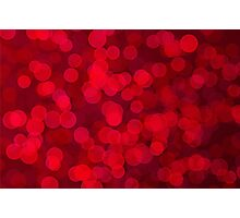 Red bokeh Photographic Print