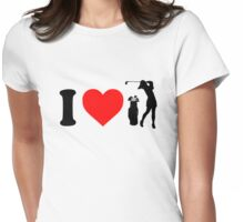 I Love Golf Womens Fitted T-Shirt