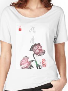 Inked Petals of a Year September Women's Relaxed Fit T-Shirt