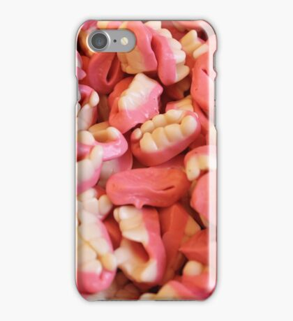 mouth and teeth of candy iPhone Case/Skin