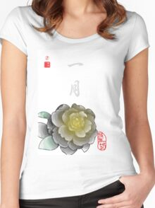 Inked Petals of a Year January Women's Fitted Scoop T-Shirt
