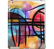 Abstract colorful landscape in the sun iPad Case/Skin
