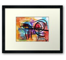 Abstract colorful landscape in the sun Framed Print