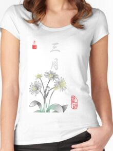 Inked Petals of a Year March Women's Fitted Scoop T-Shirt