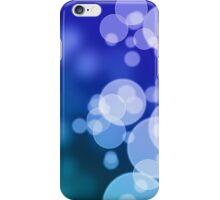 Abstract blue background with bokeh iPhone Case/Skin