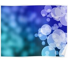 Abstract blue background with bokeh Poster