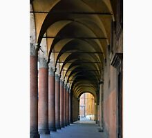 Portico in Bologna with columns and arched pathway. Unisex T-Shirt