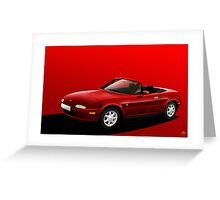 Poster artwork - Mazda MX-5 (Eunos, Miata) mk1  Greeting Card