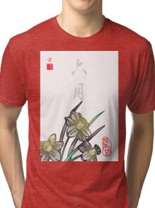 Inked Petals of a Year June Tri-blend T-Shirt