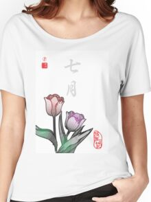 Inked Petals of a Year July Women's Relaxed Fit T-Shirt
