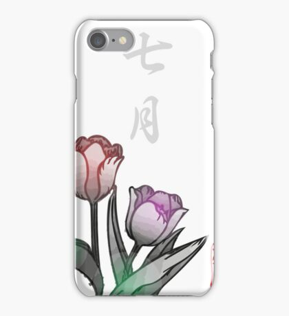 Inked Petals of a Year July iPhone Case/Skin