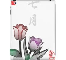 Inked Petals of a Year July iPad Case/Skin