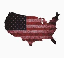 American Flag and Map Kids Clothes